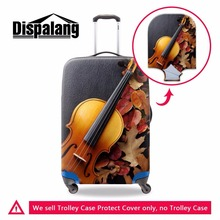 Dispalang Violin Pattern Luggage Suitcase Trolley Case Protective Cover For 18-30 inch Trunk Case Waterproof Travel Accessories