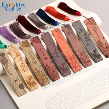 Wooden Bookmarks Custom Business Gifts Chinese Bookmarks Wooden Retro Creative Graduation Gift Mahogany Bookmarks M020(China)