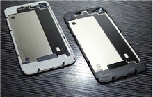 High Quality Compatible Back Glass Rear Door Battery Replace Cover For iPhone 4 4G 4S White/Black With Logo BSJHG003