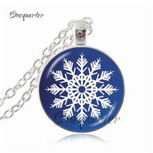 Wholesale Christmas Necklace Christmas Jewelry Glass Tile Necklace Snowman Jewelry Snowman Glass Dome Jewelry Accessories(China)