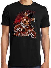 Moda Funny Tops Tees FNAF cinco noches en la pesadilla de Freddy camiseta  Anime ropa Casual 7f2f0adb332