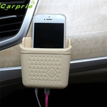 CARPRIE Super drop ship New Multifunction Auto Storage Box Case Phone Charge Hole Cradle Organizer Holder Mar718(China)