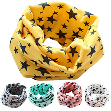 Stars Children's Cotton Neckerchief Kids Boy Girl Scarves Shawl Unisex Winter Knitting  9FA3