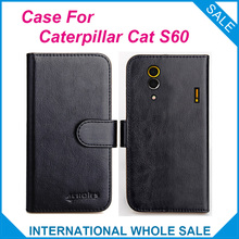 6 Colors Hot! 2016 Caterpillar CAT S60 Case,High Quality Leather Exclusive Case For Caterpillar CAT S60 Cover Phone Bag Tracking