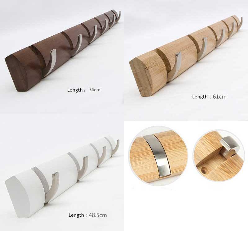 Бамбуковый основной компонент сплава зацепляет вешалку, держателя настенного крепления, сумку & ключевой крюк, три цвета, 4,5,6,7,8 крюков для Вашего выбора