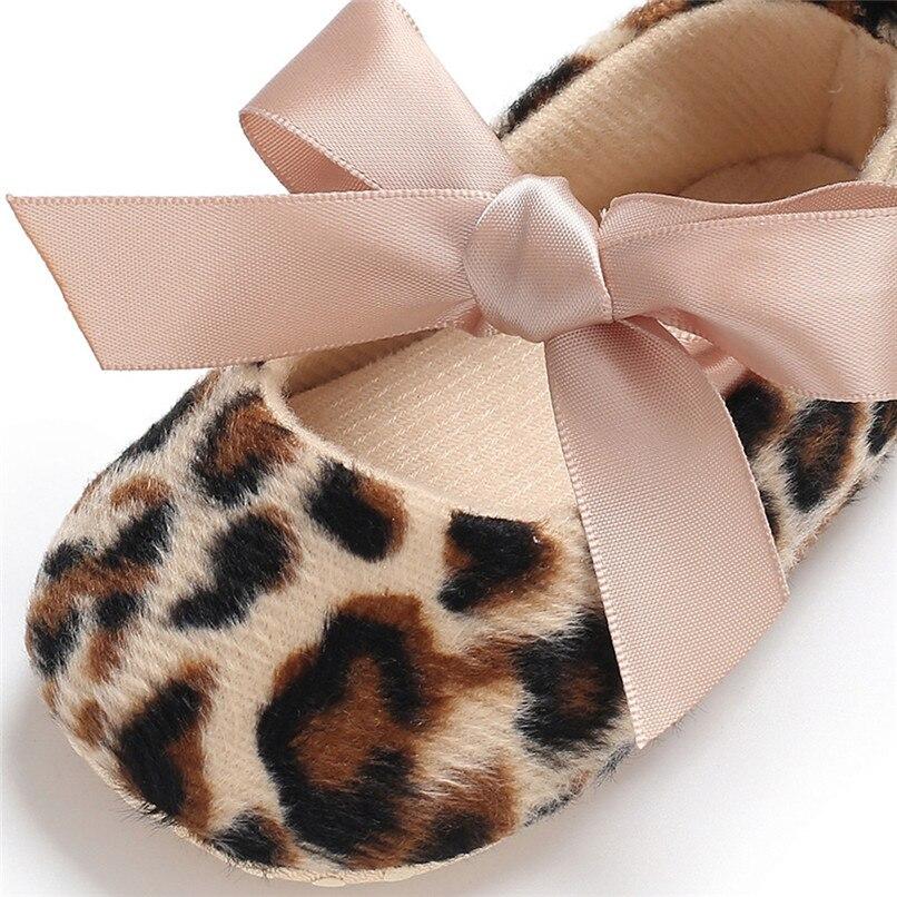 Toddler Cute Girl Leopard Print Tie Soft Newborn Anti-slip Baby Shoes First Walker A84L073 (1)