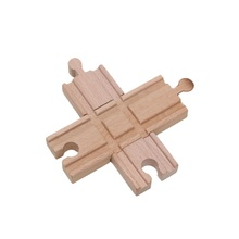 4.2inch 2pcs/set Wooden Train Track Accessories Cross Tracks Educational Blocks Toys Railway Accessories bloques de construccion