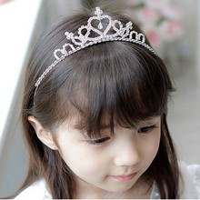 children wedding hair accessories Girls Rhinestone Hair Band Crown Headband hair jewelry Princess Crown Tiara