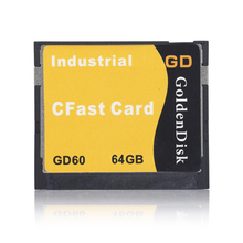 Goldendisk Cfast Solid State Disk 128GB Complact Flash Card Size NAND MLC Flash Original for 4K Ultra HD Camera