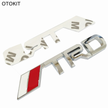 OTOKIT New 3D Chrome TRD Racing Development Logo Metal Emblem Badge Car Styling Decal for Toyota Car Tail Door Head Car Sticker