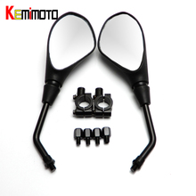 "KEMiMOTO Motorcycle Mirror 7/8"" 22mm for BMW R1200GS for KAWASAKI Z800 for Honda cbr1000rr motorcycle mirrors after market"