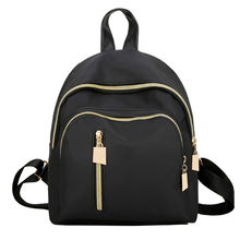 2017 New Brand Design Oxford Women Black Leather Backpacks Girls School Bags Students shoulder Backpack Women's Fashion Bagpack(China)