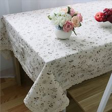 Applicable Table Cloth Square Covers Pastoral Style Home Linen Tablecloth Dandelions Printed For Dining Table Plus Size New(China)