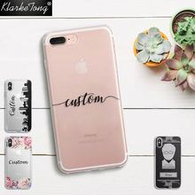 DIY Name Custom Design Print Case Cover For iPhone 6 6s 5 5s SE 7 7Plus 8 X Flower City Customized Soft Silicone TPU Coque Capa(China)