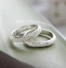 JZ179 Korean convention lifelong frosted lucky couple wild fashion simple ring Inner diameter 1.5 cm