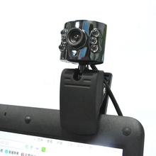 30.0 Mega Pixel USB 2.0 Camera Webcam + 6 Led Light Dimmer 30M HD Web cam With Mic Microphone for PC Computer Laptop Desktop