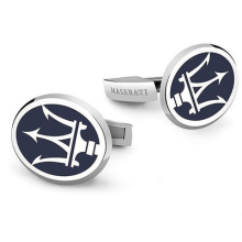 20174 The high quality of the Maserati logo Cufflinks men French LOGO Fashion Style Silver Cufflinks wholesale and retail(China)