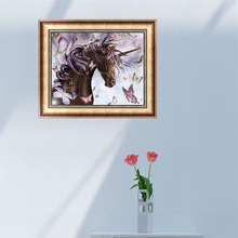Horse Butterfly 5D Diamond Embroidery Painting Cross Stitch DIY Craft Home Deco
