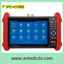 7 inch touch screen Cheap Handheld CCTV Test Monitor for IPC+CVBS Analog Security Camera