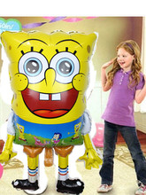 1pcs Big Size 40inch Animal Spongebob Shape Foil Balloons Spongebob Patrick Star Birthday Party Supplies Classic Air Balls