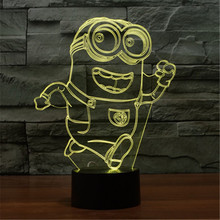 Acrylic Colorful USB Small Yellow People Nightlight Household Bedroom Office LED Table Lamp Child Christmas Gift -110+111
