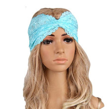 8 Colors Women Fashion Lace Headwear Hair Band Twist Exercise Headband Turban Headscarf Wrap Headdress Hair Accessories Jan19