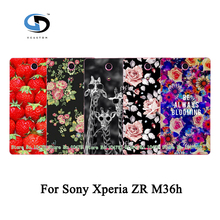 Colorful Women Girls' Rose Peony Beautiful Flower Floral Drawing Hard Plastic Case For Sony Xperia ZR M36h Skin Back Cover