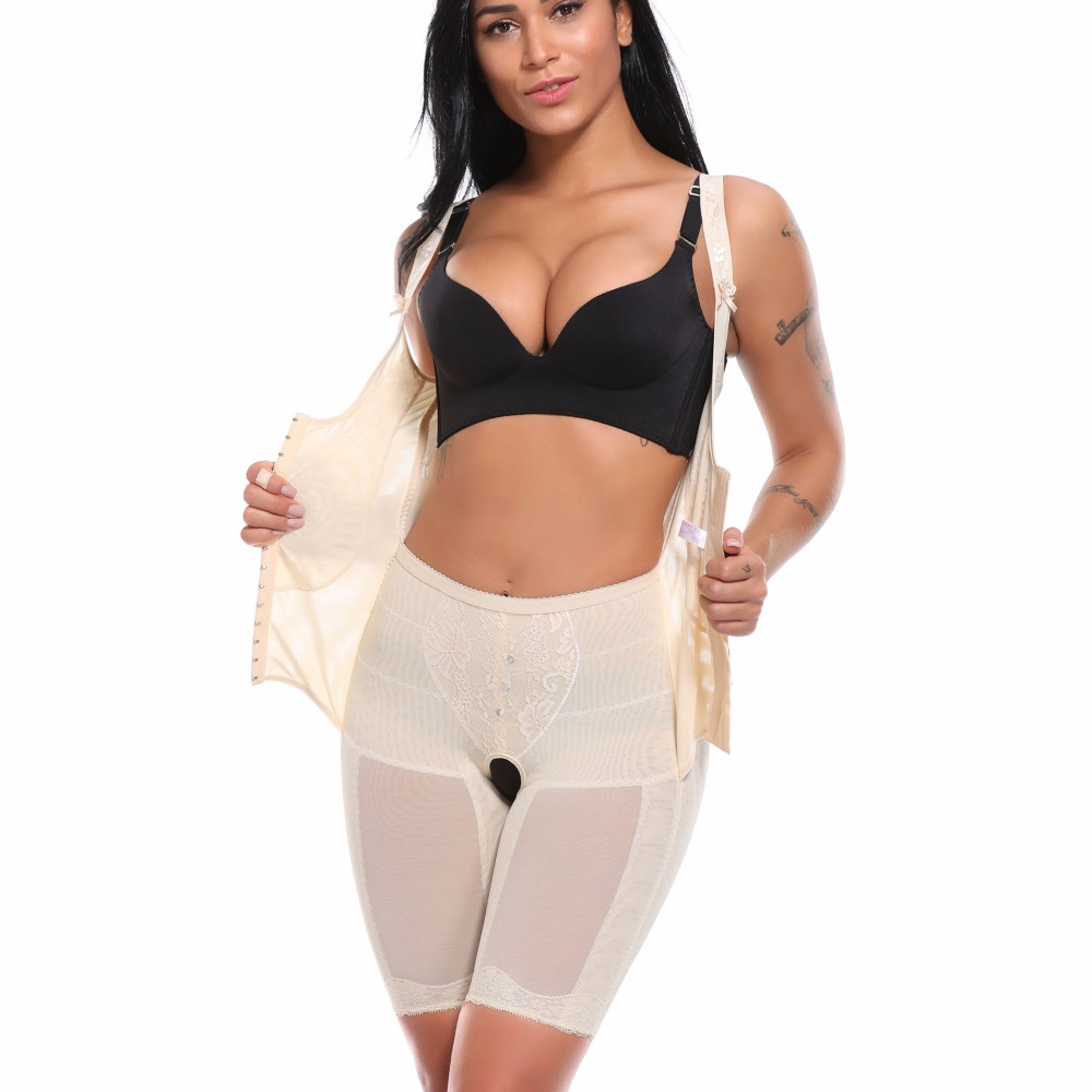 f268c7bc19 Womens Slimming Full Body Shaper Corrective Underwear Shapewear Tummy  Control Panties Underbust Waist Corsets Bodysuit Girdles
