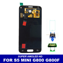 100% Tested Super Amoled Replacement LCD For Samsung Galaxy S5 Mini G800 G800F G800H Screen Display Touch Digitizer Assembly