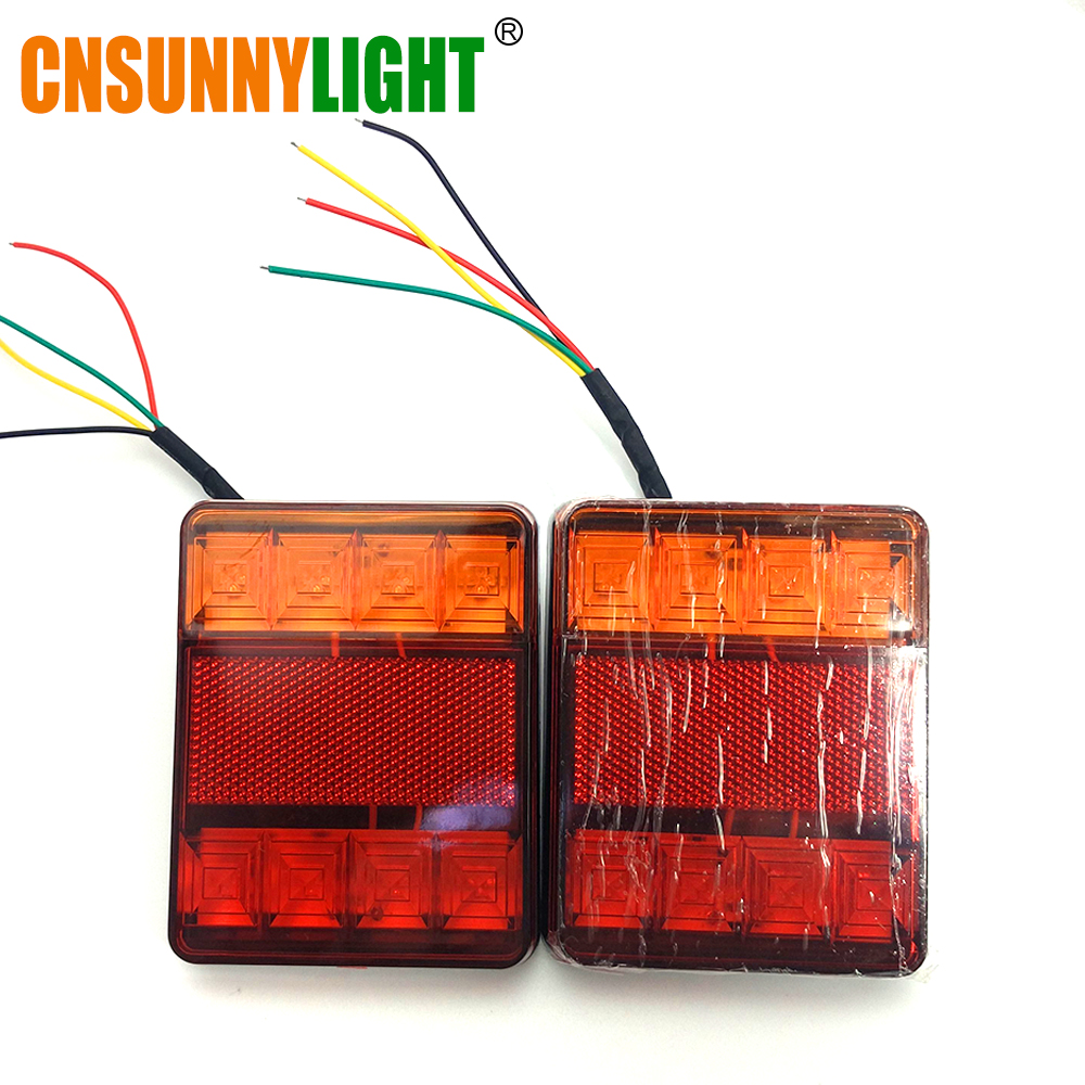 CNSUNNYLIGHT Car Truck Rear Tail Light Warning Lights Rear Lamps Waterproof Tailight Rear Parts for Trailer Caravans DC 12V 24V (8)