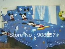 blue mickey mouse children's boys bedding twin full queen king size comforter cotton quilt duvet covers bed in a bag sheets set