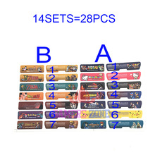 14SETS=28PCS Customer Design for Nintendo Gameboy Advance Label Sticker For  GBA  Console Back Tag