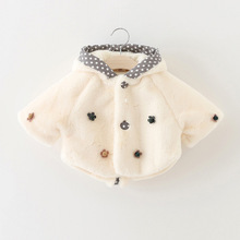 baby girls infant winter coats cloak cape child baby cape thick rabbit fur coat imitation Jacket Coat Outerwear roupas de bebe