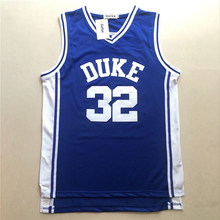 Free shipping Laettner 32 # DUKE Jersey Grant Hill # 33 Stitched Men Blue moive Jerseys(China)