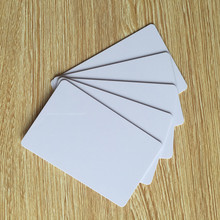 10pcs/lot 13.56mhz iso 14443a plastic blank white rfid 1k hotel key card