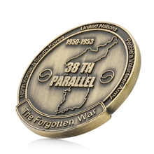Collectible Coin Korean War Coin 38th Parallel Commemorative Coins Military Challenge Art Collection