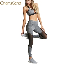 Chamsgend Workout Academy Fitness Leggings Women 2017 Drying Trousers High Waist Mesh Slim Hot Sale clothes Women Pants 78#(China)