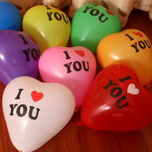 2017 Promotion Juguetes 1pcs 12 Inch Inflatable Ball Novetly Wedding Party Decoration Love Heart Shape Latex balloons(China)
