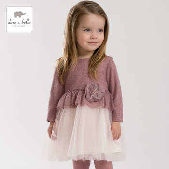 DB3290 dave bella bébé fille fée péri robe infantile vêtements filles de fête d'anniversaire de robe