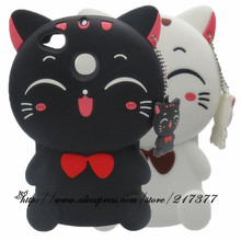 For Xiaomi Redmi 4X Cartoon 3D Black Cat silicone soft Case For Xiaomi Redmi 4X 4 X back Cover Redmi 4X(China)