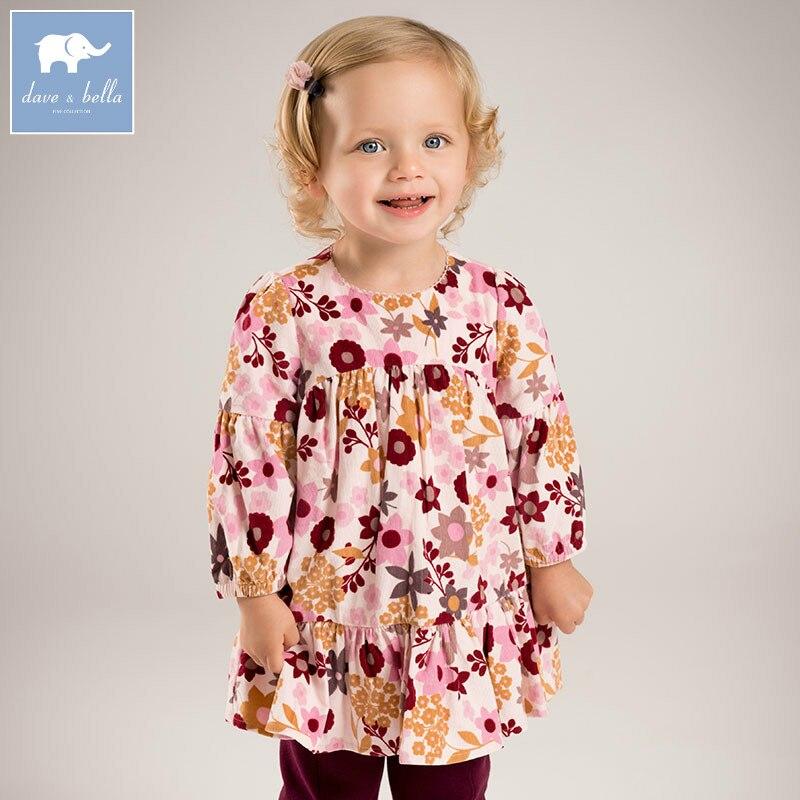 DB5832 dave bella infant baby girls princess dress fashion floral wedding birthday party dress toddler children clothes <br>