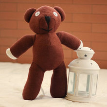 "Free Shipping Mr Bean Teddy Bear 22cm Animal Stuffed Plush Toy,9"" Brown Figure Doll Child Christmas Gift Toys Wholesale & Retail"