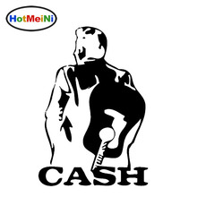 HotMeiNi Johnny Cash Art Portraits Mature Man Vicissitudes of Life Sticker Car Rear Truck Laptop Art Wall Die Cut Vinyl Decal(China)