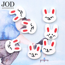 Cartoon Animal Button Rabbit White Sweater Decoration Button Wood Button Hand Diy Sewing Accessories Applications Clothes(China)