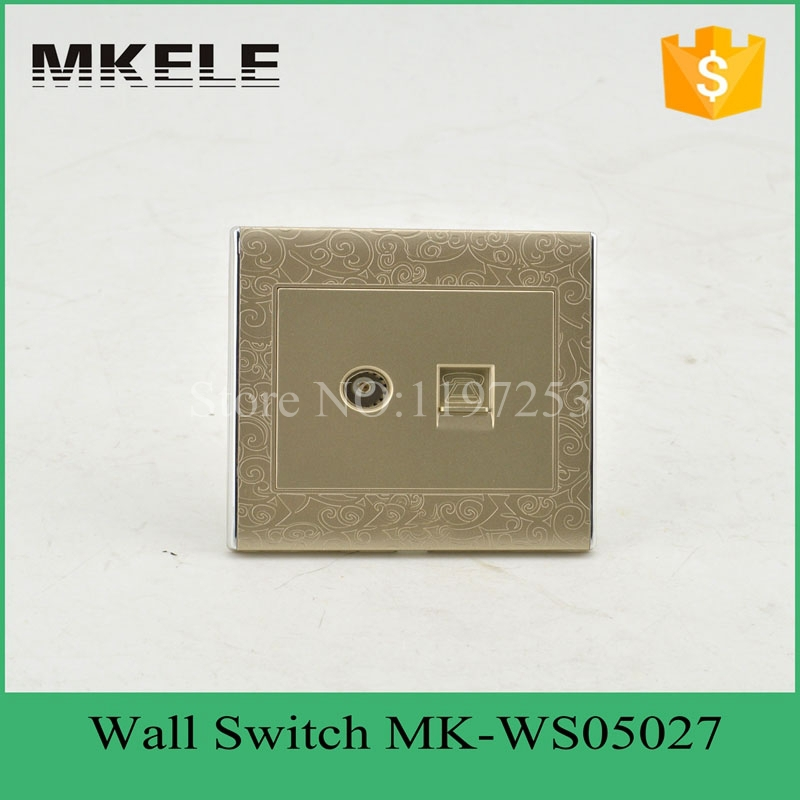 MK-WS05027 plastic universal factory low price TV and tel wall multi outlet socket ,universal wall outlet , wall switch socket<br><br>Aliexpress