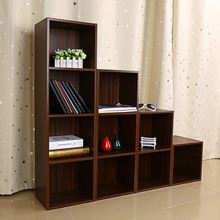 Multifunction Wood Cabinets Display Rack 1/2/3/4 Tiers Wooden Bookcase Shelf Standing Book Shelves Storage Decorative Bookcase