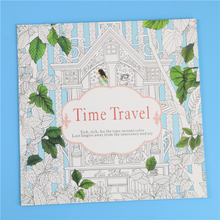 arrival Relieve Stress For Adult Painting Drawing Book 24 Pages Time Travel Kill Time English colouring books
