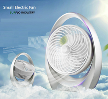 Table Ultra-quiet Desk Fan Creative Home Office ABS Electric Fans Silent Desktop Fan 360 degree Up and down angle adjustable