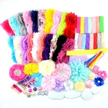 DIY Headband Making Kit Shabby Chic Country Meadow Collection girl Shower Headband Station