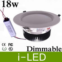 4pcs/lot  Dimmable 18W 18X1W Led Downlight Fixture Lamp High Power Led Down Lights Warm White 2700k 4500k nature white 85-265V